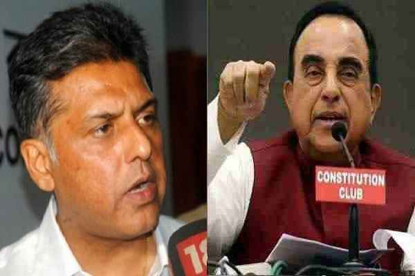 subramanian-swamy-said-manish-tiwari-congress-become-frustrate