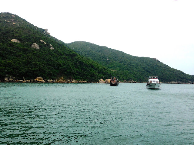 Junk boats off the shore of Lamma Island, Hong Kong