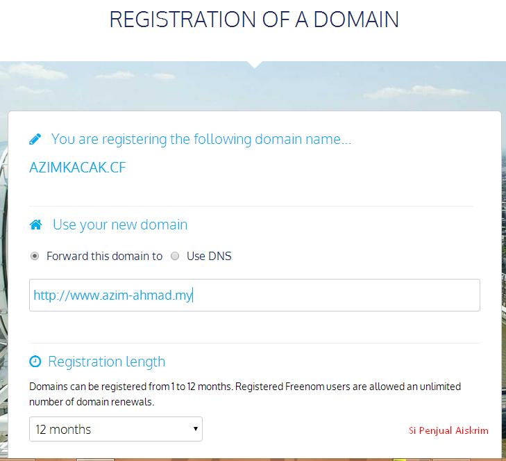 Si Penjual Aiskrim: Registering Free Domain With Freenom
