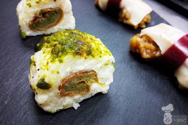 sushi de torrija de la pastelería Nunos