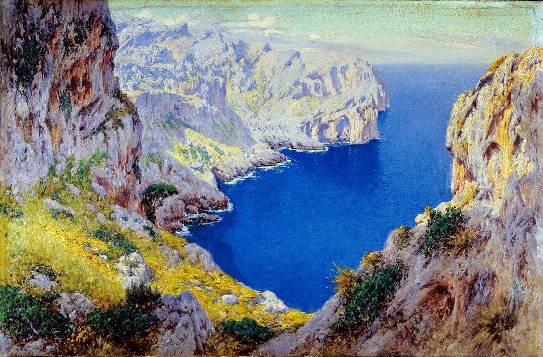 Lorenzo Cerdá Bisbal, Acantilados de Mallorca, Mallorca en Pintura, Mallorca pintada, Paisajes de Mallorca