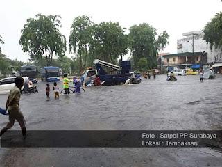 Info Lokasi Genangan Air Di Surabaya Hari ini