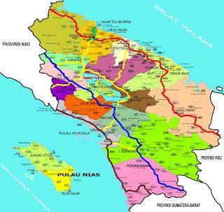 Peta Jalan di Sumatera Utara