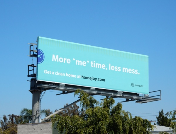 Homejoy More me time billboard