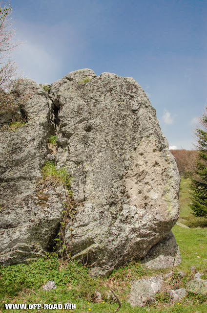 Dobro pole - The rock on which the monument was placed