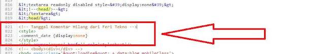 menghilangkan tanggal komentar diblog - Feri Tekno