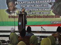 Wabup Sri Muslimatun Lantik 680 Pengurus Anak Cabang Muslimat NU Sleman