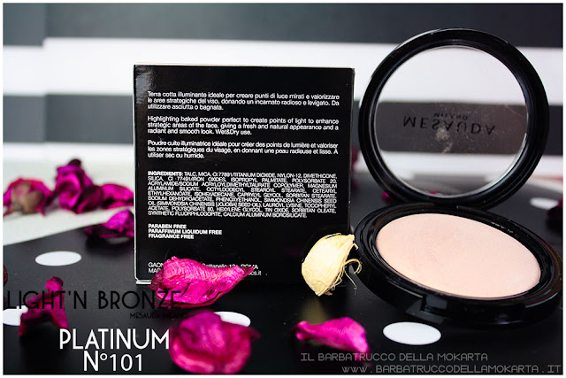 platinum 101 inci light'n bronze illuminante higlighter mesauda