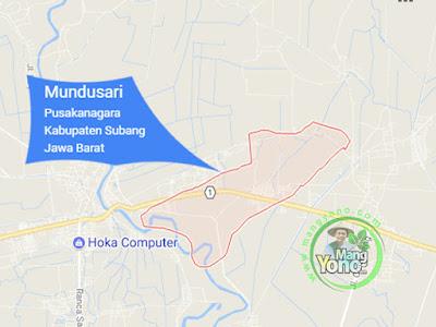 PETA : Desa Mundusari, Kecamatan Pusakanagara