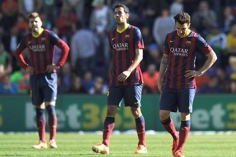 Barca đã thua trận thứ tư ở mùa này tại Liga