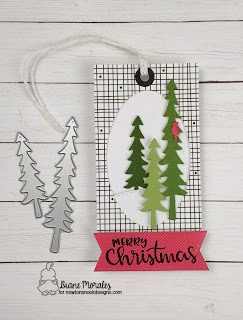 Merry Christmas Tag  a Tag by Diane Morales | Forest Scene Builder Die Set by Newtons Nook Designs