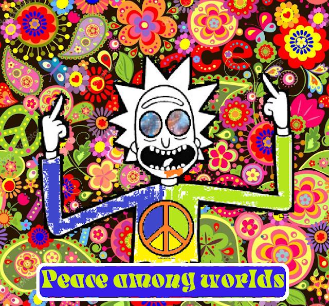 Estampa para camisa Rick Peace among worlds !