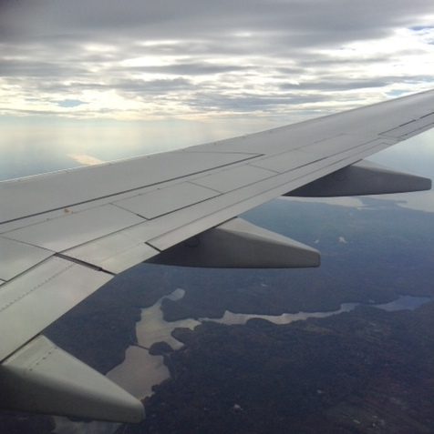 View from our plane as we approach New York