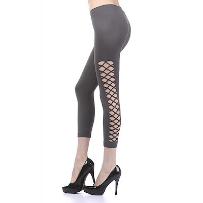 diamond net side leggings