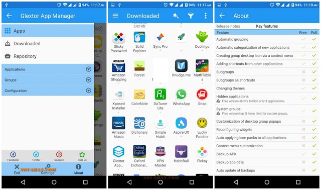 Full apk of Glextor App Manager latest