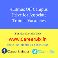 eLitmus Off Campus Drive for Associate Trainee Vacancies