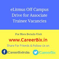 eLitmus Off Campus Drive for Associate Trainee Vacancies