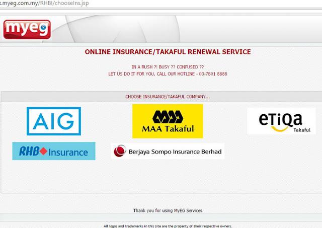 servis insurans di MyEG