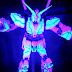 Tamashii Exclusive: Robot Damashii (SIDE MS) Gundam Unicorn (Awakening Ver.) with Glowing Stage set.