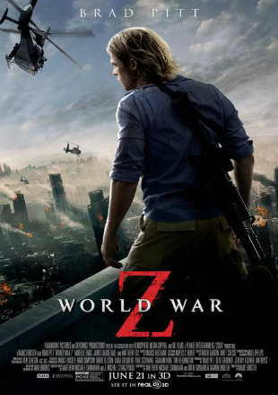 World War Z 2013 Theatrical Cut BRRip 350MB Hindi Dual Audio ORG 480p Watch Online Full Movie Download bolly4u