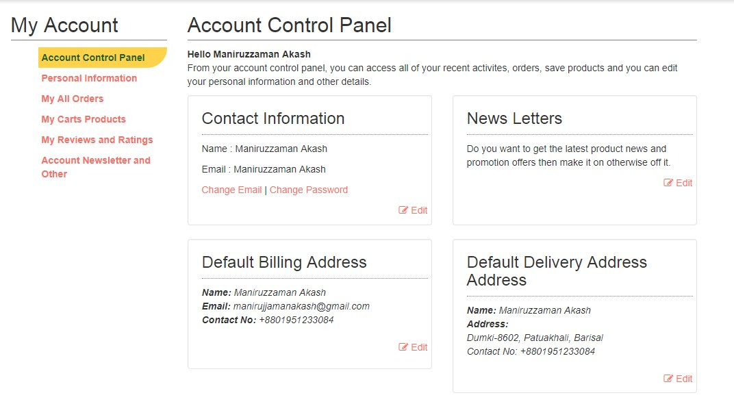 Download Free Complete E-Commerce Template From GitHub - Laravel
