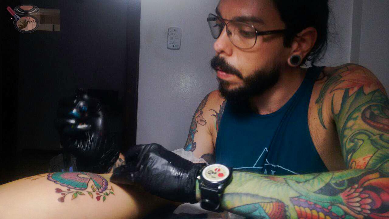 Minha primeira tatuagem e o blush