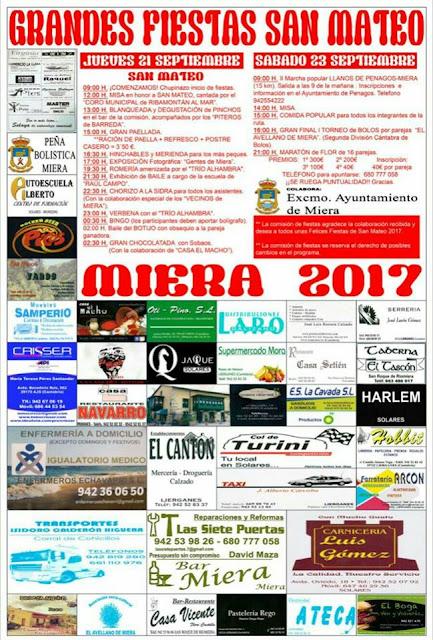 Fiestas de San Mateo en Miera 2017
