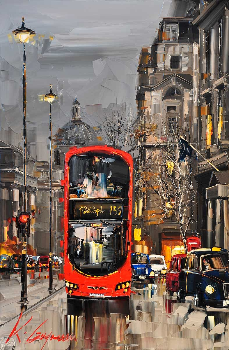 20-Pall-Mall-London-Kal-Gajoum-Paintings-of-Dream-Like Cities-of-the-World-www-designstack-co