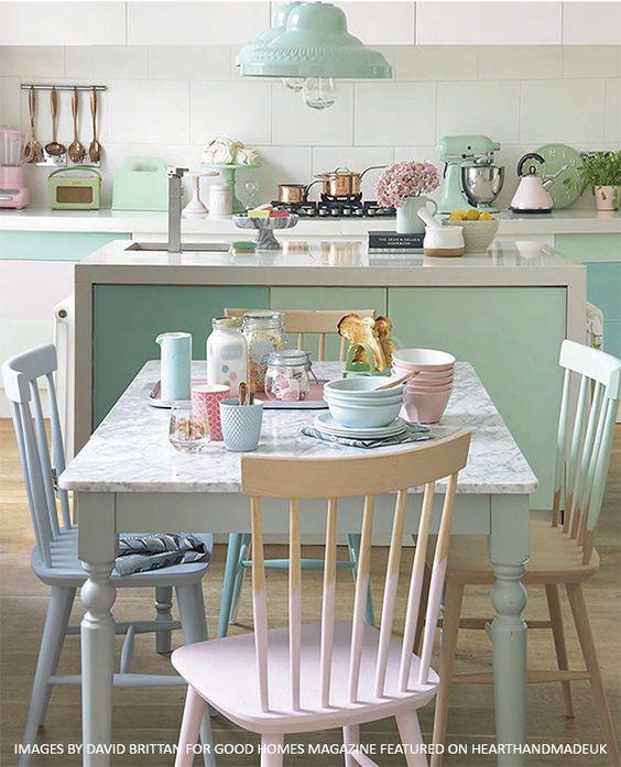 Pastel Coloured Kitchen Accessories: INSPIRACIÓN 20 COMEDORES CON ENCANTO Para Sacar Muchas