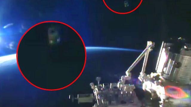 """ما الذي ظهر أثناء البث المباشر لـ'ناسا' من محطة الفضاء الدولية """"ناسا قطعت البث الحي المباشر بعد ظهورها وابدلته بصور اخرى"""" والسبب"""