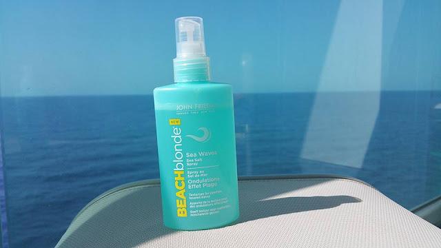John Frieda Beach Blonde Salt Spray in the sun