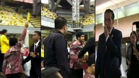 """Insiden"" Kartu Kuning, Rektor UI Minta Maaf ke Jokowi"