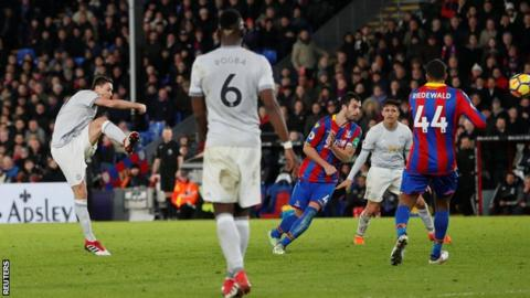 MANCHESTER UNITED FIGHT BACK AS THEY DEFEATED THEIR RIVALS CRYSTAL PALACE