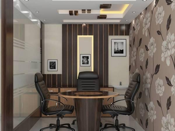 Office cabin decorating ideas minimalist for Cabin interior design ideas