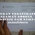 Surat Verifikasi Alamat Google Adsense Dah Sampai