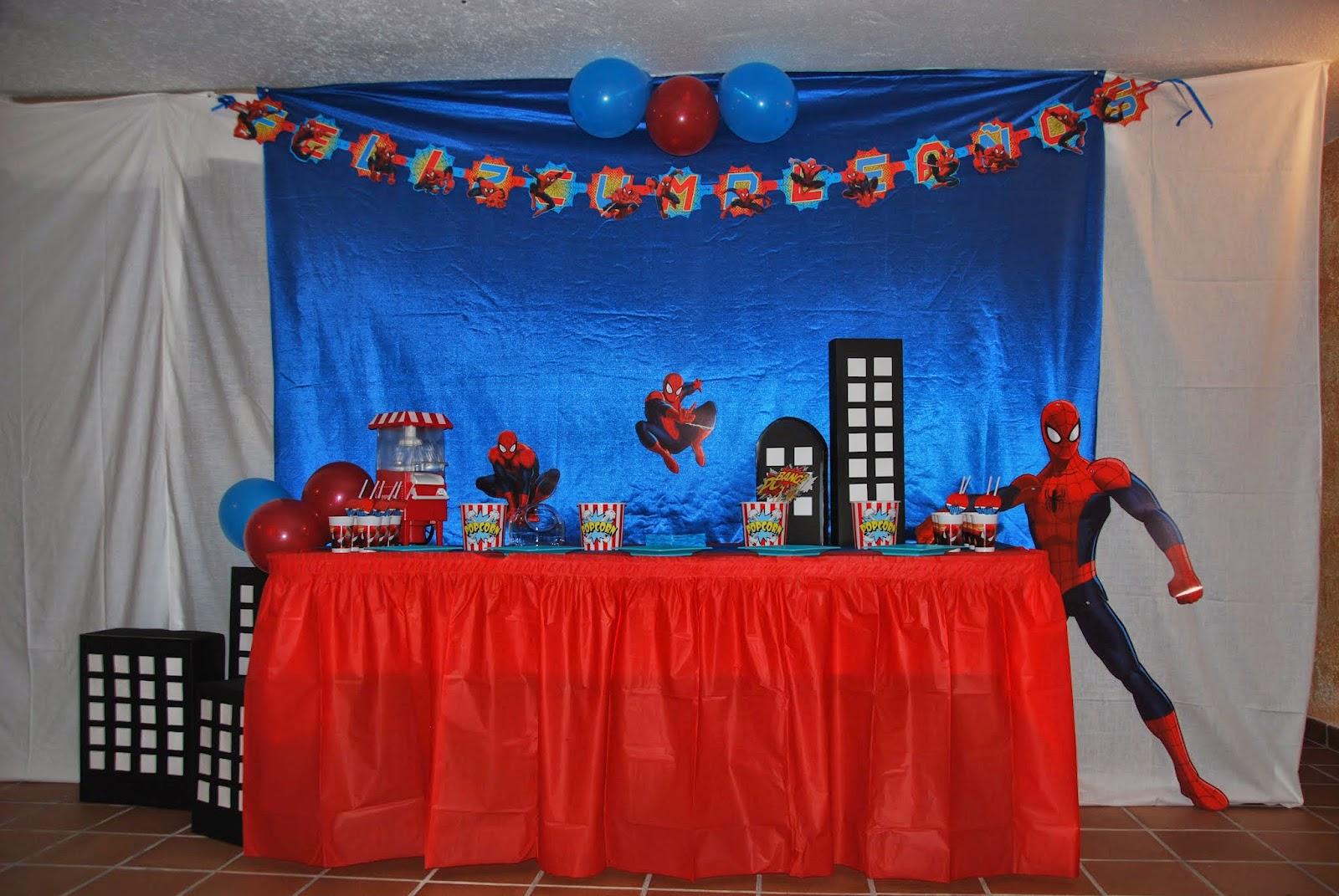 Cumpleaños Y Fiestas Infantiles Fiesta De Cumpleaños Hugo Temática Spiderman