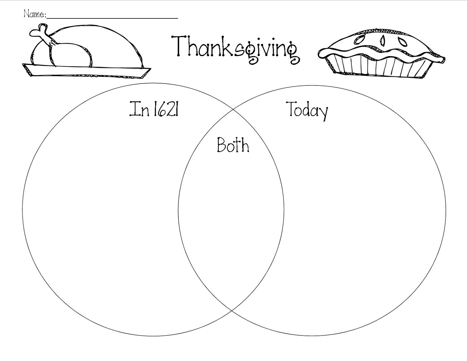 small resolution of teacher and a mom thanksgiving compare and contrast 1st grade venn diagram thanksgiving venn diagram cut and paste