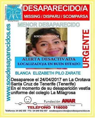 La menor desaparecida en la Orotava, Tenerife, ha sido localizada en buen estado