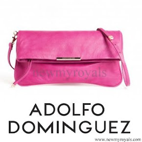 Queen Letizia Style ADOLFO DOMINGUEZ Clutch Bag