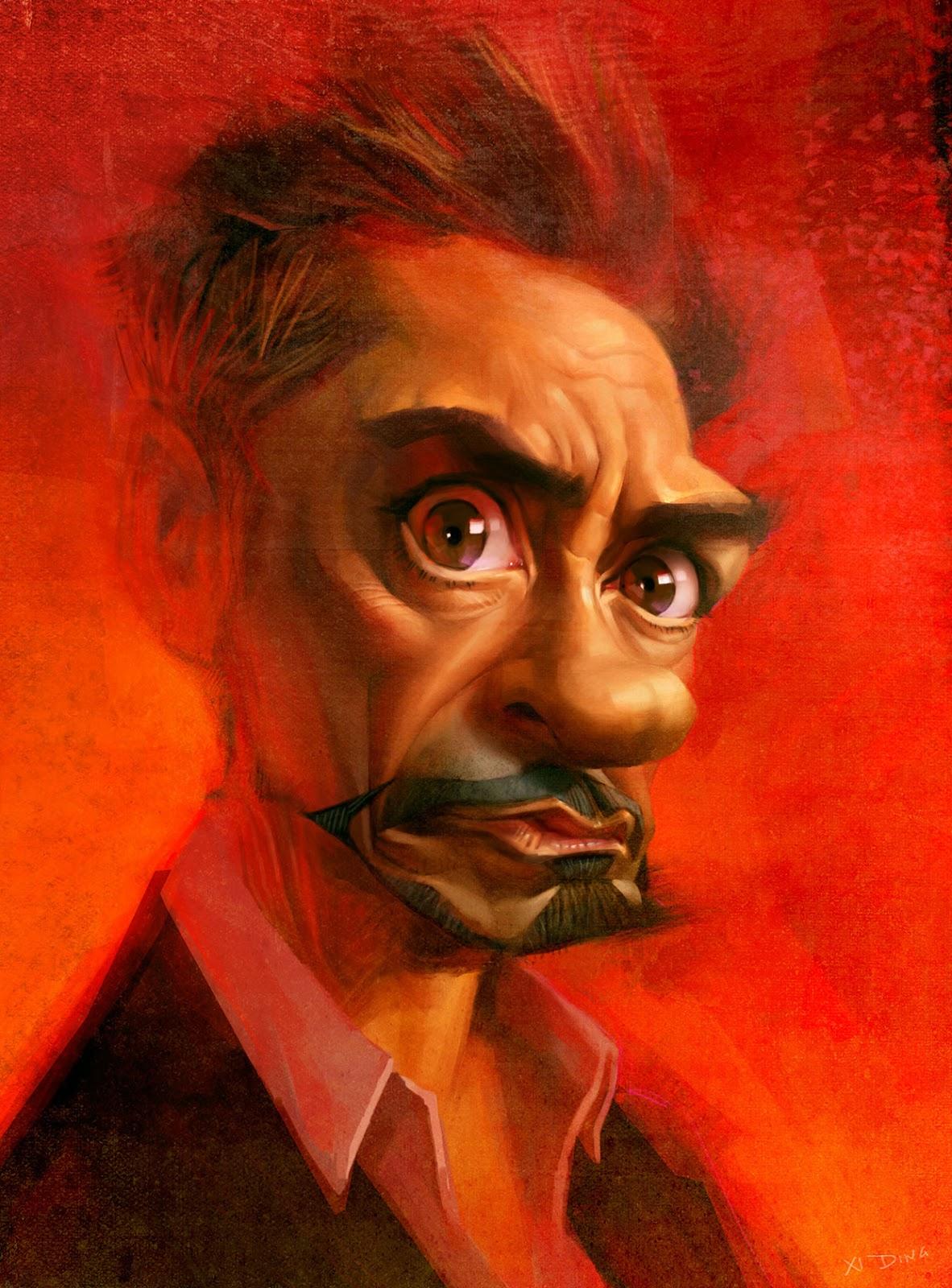 Robert Downey Jr. por Xi Ding