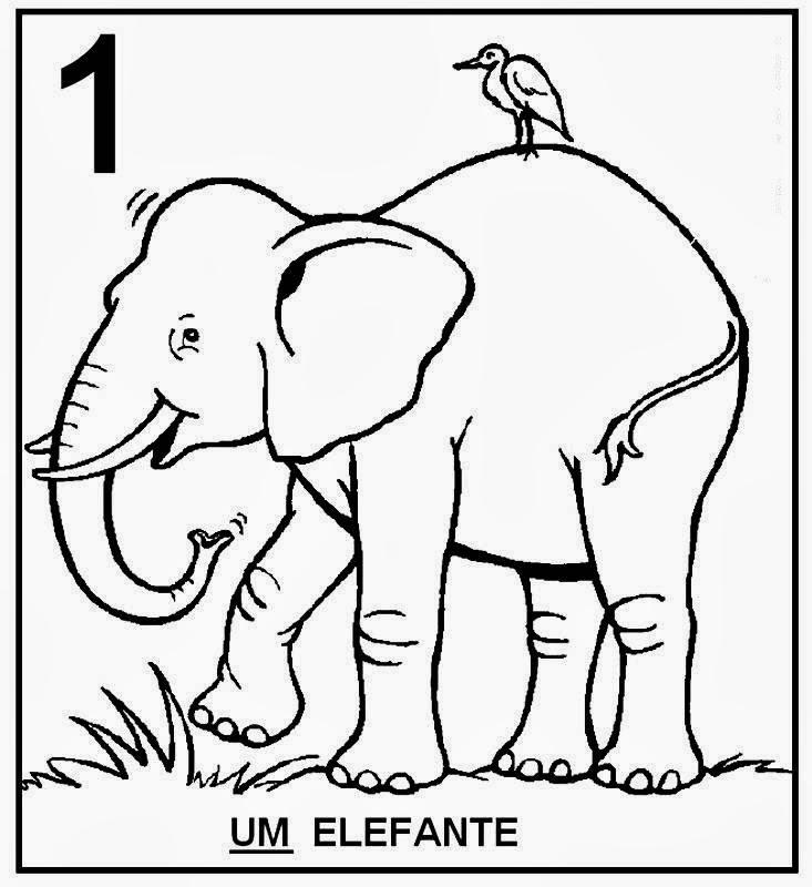 Atividades com Numerais Um elefante