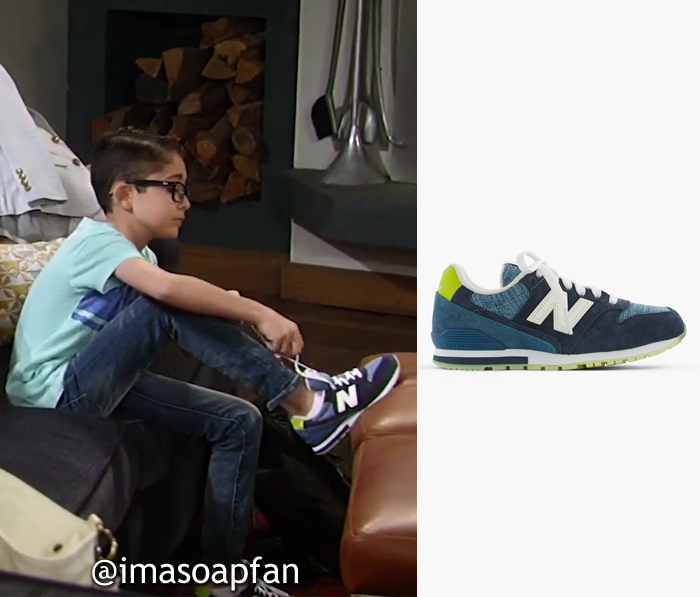 Spencer Cassadine, Nicolas Bechtel, Blue Sneakers with Glow-in-the-Dark Soles, New Balance, J. Crew, General Hospital, GH