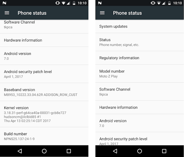 April 2017 Security Patch now available for the Moto Z Play in Canada and Brazil