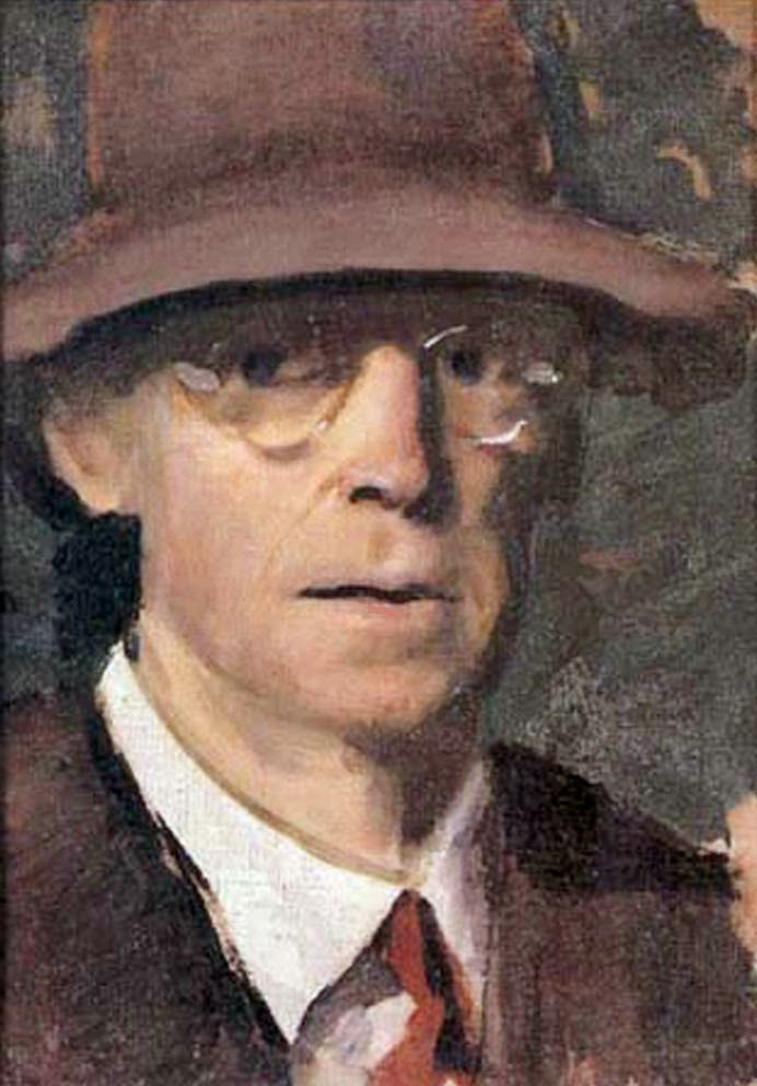 Charles Hopkinson, Self Portrait, Portraits of Painters, Fine arts, Portraits of painters blog, Paintings of Charles Hopkinson, Painter Charles Hopkinson