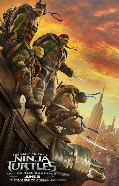 Poster Of Teenage Mutant Ninja Turtles Out Of The Shadows 2016 480p HDTS Dual Audio Download