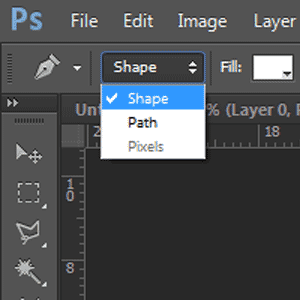 The pen tool modes