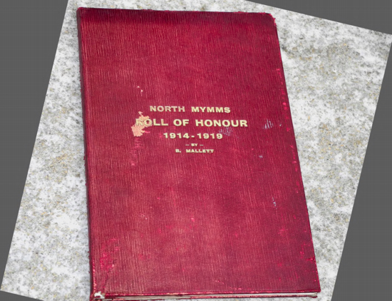 The original Roll of Honour which formed the basis for Mike's work Image courtesy of Mike Allen