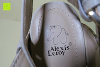Logo: Alexis Leroy Blockabsatz Blume gedruckt Damen Offene Sandalen mit Keilabsatz