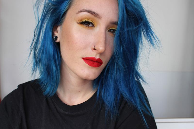 Maquillage jaune et rouge pour inspiration makeup