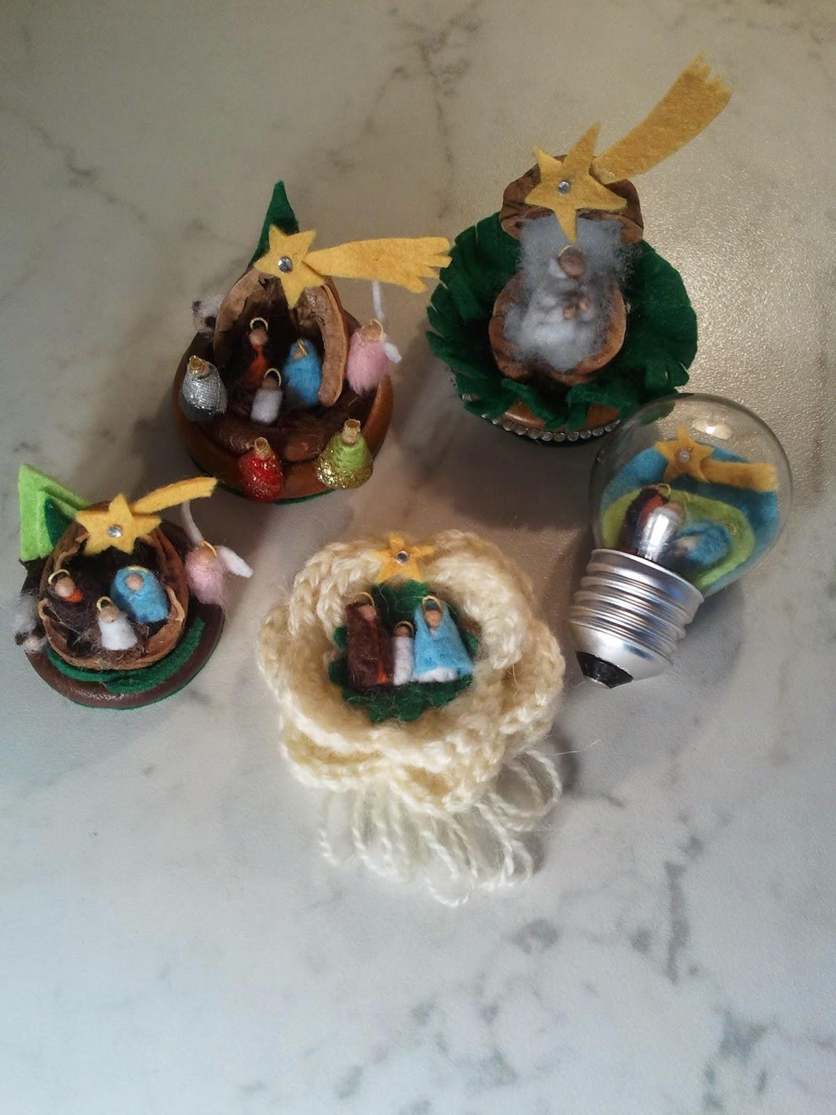 Amato Il Ditale Rosa: Natività in pannolenci mini. NM52